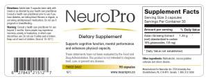 NeuroPro USA Label